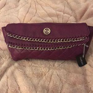 Bebe purple clutch